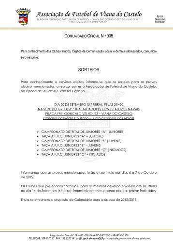 Sorteios - AF Viana do Castelo