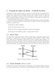 1 Camada de enlace de dados – Controle de fluxo - UFSM