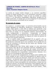 CAMPOS DE FUERZA. CAMPOS DE BATALLA - Pensamiento Abierto
