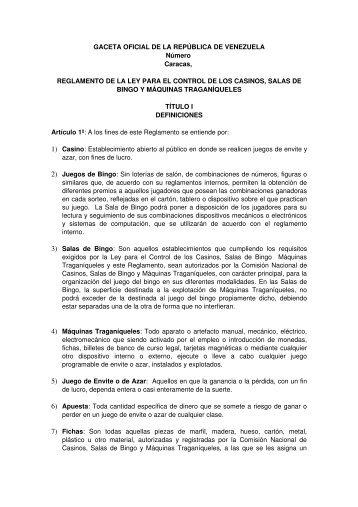 reglamento_ley pccsbymt.pdf - comisión nacional de casinos, salas ...