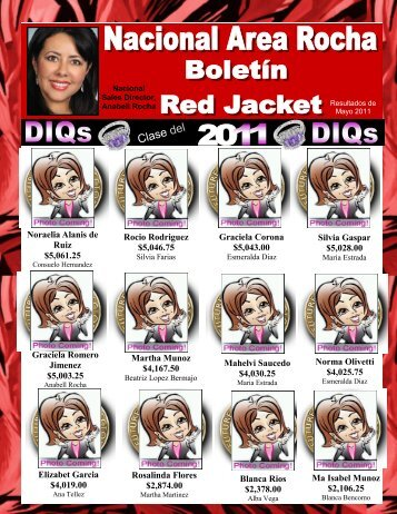 Boletin de Lideres (resultados mayo 2011) - Anabell Rocha NSD