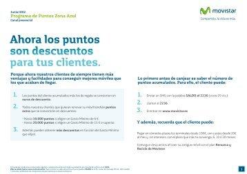 Programa de Puntos Zona Azul - Movistar