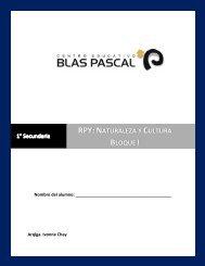 RPY: Naturaleza y Cultura Bloque I - Centro Educativo Blas Pascal