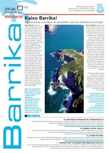 Revista de ocio, información y cultura - Barrikako Udala