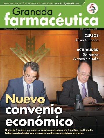 Nuevo Convenio Económico - Granada Farmacéutica
