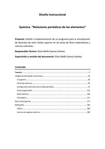 La tabla periódica. - Upemor.edu.mx