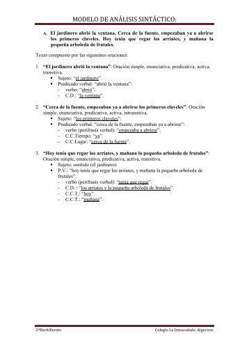 modelo de análisis sintáctico - LENGUA Y LITERATURA MIC ...