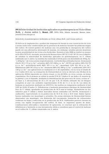 Selectividad de herbicidas aplicados en postmergencia en Vicia ...