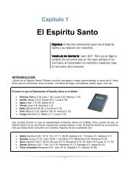Capítulo 1 El Espíritu Santo - Iglesia Cristiana Fuente de Vida