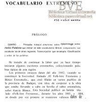 VOCABULARIO EXTREMEÑO - Paseo Virtual por Extremadura