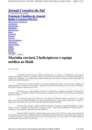 Jornal Cruzeiro do Sul Marinha enviará 2 ... - Marinha do Brasil
