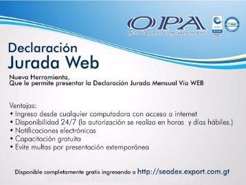 Guia para Declaracion Jurada en Linea - Agexport