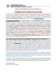 CORREO ELECTRONICO (E-MAIL) - UPRM