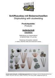 Produktkatalog Isoliertechnik - Schelle GmbH