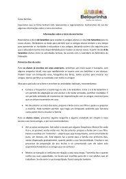 Exemplo da carta a ser enviada pelas educadoras aos ... - Belourinha