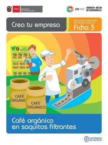 Ficha 3 Café orgánico en saquitos filtrantes - CRECEmype