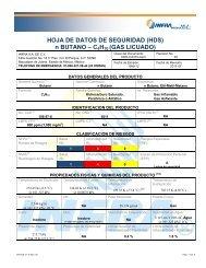 HOJA DE DATOS DE SEGURIDAD (HDS) n BUTANO – C4H10 ...