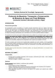 Protocolo de Muestreo, Transporte y Conservación de ... - INTA