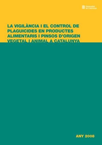 La vigilància i el control de plaguicides - Generalitat de Catalunya