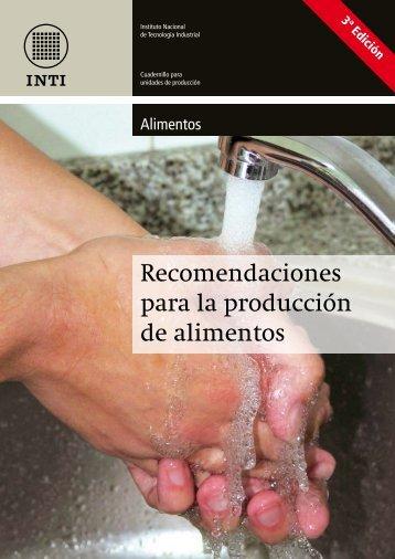 Recomendaciones para la producción de alimentos - INTI