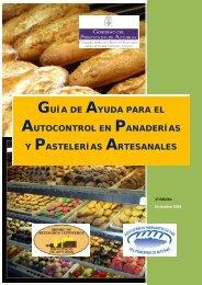 Guía de ayuda para el autocontrol en panaderías - Gobierno del ...