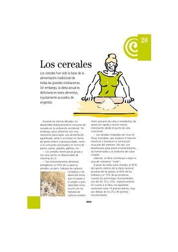 Los cereales - Ocu