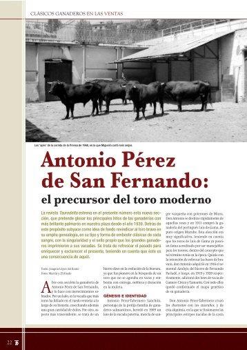 Clásicos ganaderos en Las Ventas: Antonio Pérez de