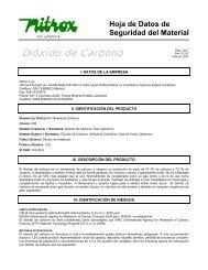 Dióxido de Carbono - Gases Nitrox