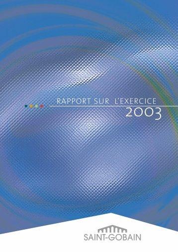 sur l'exercice 2003 - Saint-Gobain