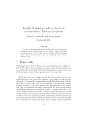 Lengths of simple periodic geodesics on two-dimensional ...