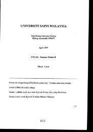 UNIVERSITI SAINS MALAYSIA - ePrints@USM