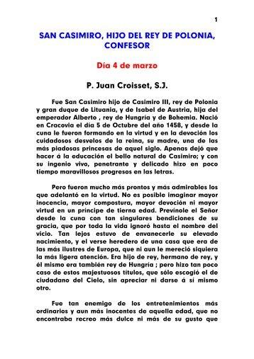 SAN CASIMIRO, HIJO DEL REY DE POLONIA, CONFESOR Día 4 ...