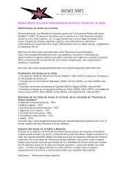 Datos Sobre la Lucha Internacional Contra el Acoso ... - Buenos Aires