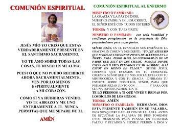 Oración para la comunión espiritual de un efermo - Corazones.org