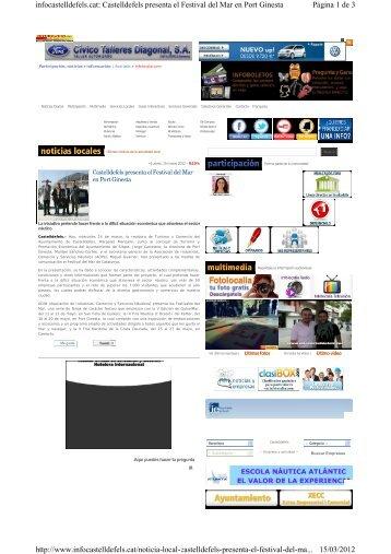Página 1 de 3 infocastelldefels.cat: Castelldefels presenta el ...