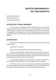 DEFECTOS ABDOMINALES Y DEL TUBO DIGESTIVO