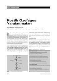 Kostik Özofagus Yaralanmalar - Güncel Gastroenteroloji
