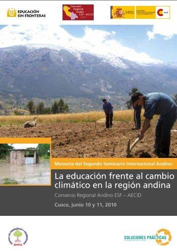 La educacion tecnica frente al cambio climatico en la region ...