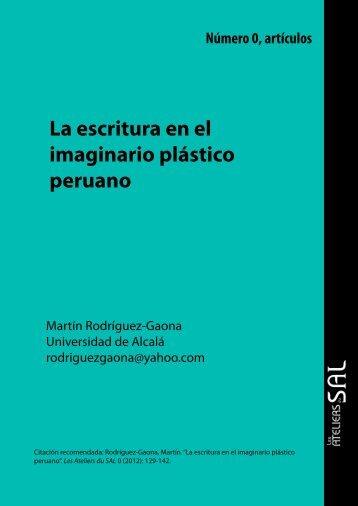La escritura en el imaginario plástico peruano - Les Ateliers du SAL