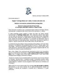 Comunicato stampa n° 11 - 4 ottobre - Regata ... - Salone Nautico