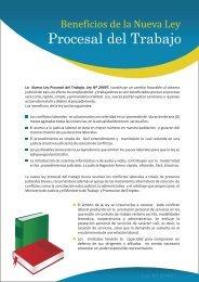 beneficios de la nueva ley procesal del trabajo - Ministerio del ...