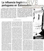 La influencia lingüística portuguesa en Extremadura - Paseo Virtual ...