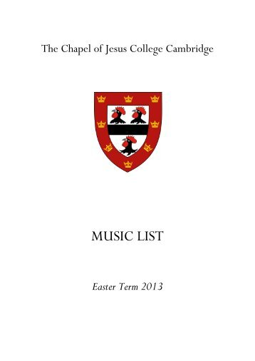 Easter Term - Jesus College