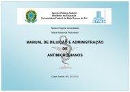 manual de diluição e administração de antimicrobianos - Hospital ...