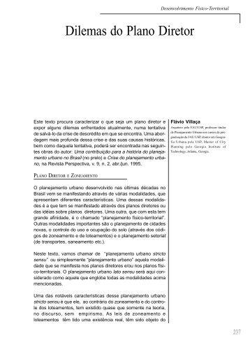 Dilemas do Plano Diretor - CIDADE :: Centro de Assessoria e ...