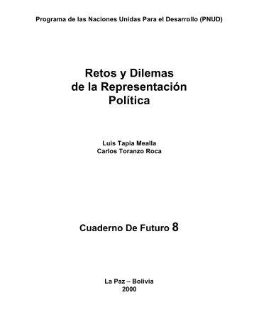 Retos y Dilemas de la Representación Política - Informe sobre ...