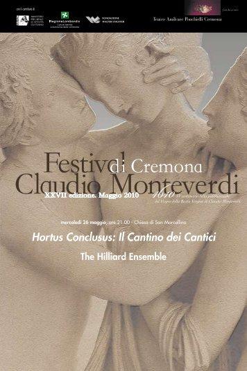 Hortus Conclusus: Il Cantino dei Cantici - Teatro A. Ponchielli