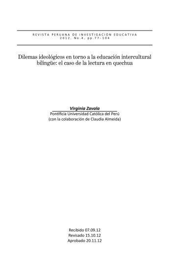 Dilemas ideológicos en torno a la educación intercultural ... - SIEP