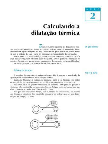 Calculando a dilatação térmica
