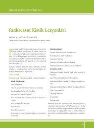 Pankreasın Kistik Lezyonları - Güncel Gastroenteroloji